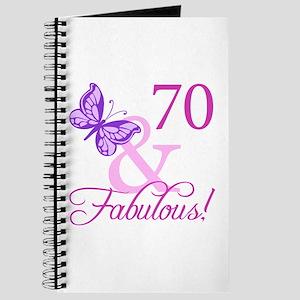 70 & Fabulous (Plumb) Journal
