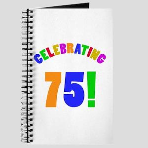 Rainbow 75th Birthday Party Journal