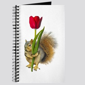 Squirrel Red Tulip Journal