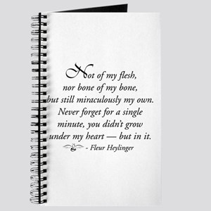 Not of my flesh Journal