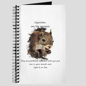 Quit Smoking Motivational Fun Squirrel Journal