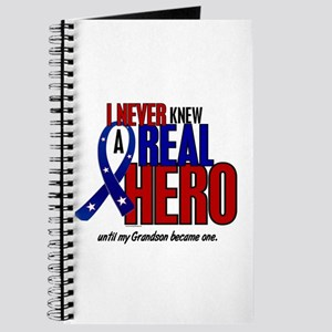 Never Knew A Hero 2 Military (Grandson) Journal