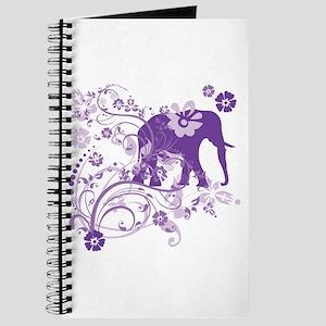 Elephant Swirls Purple Journal