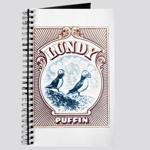 1928 Lundy Island Puffins Engraved Print Journal