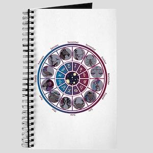 Starlight Zodiac Wheel Journal