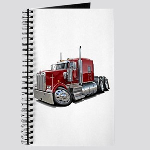 Kenworth W900 Maroon Truck Journal