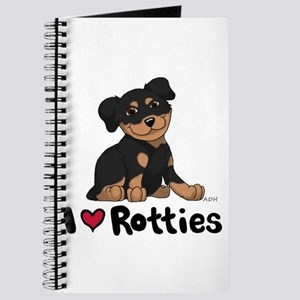 I Heart Rotties 10x10 Journal
