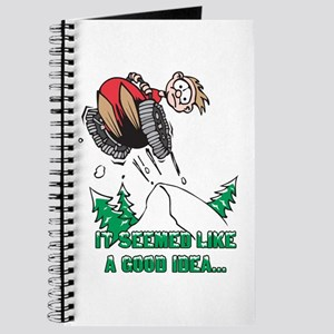 Funny Snowmobile Journal