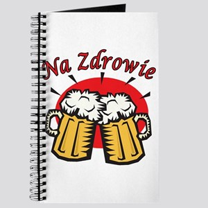 Na Zdrowie Toast With Beer Mugs Journal