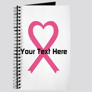 Personalized Pink Ribbon Heart Journal