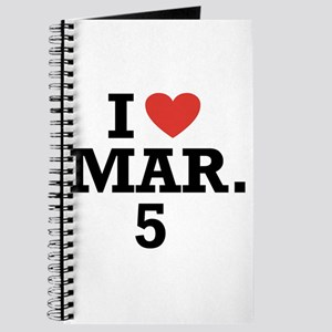 I Heart March 5 Journal