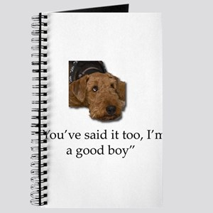 Sulking Airedale Terrier Giving Cute Eyes Journal