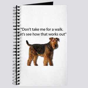 Airedale Terrier Getting Ready for Payback Journal