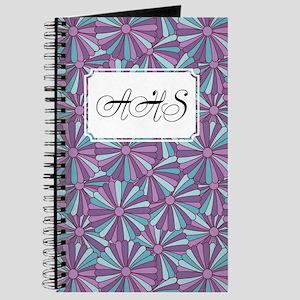 Flower Rainbow Purple Journal