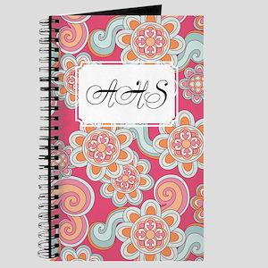 Flower Retro Pink Journal
