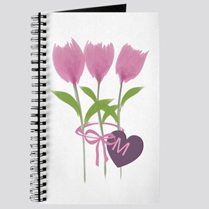 Pink Tulip Monogram Journal