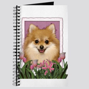 Mothers Day Pink Tulips Pom Journal
