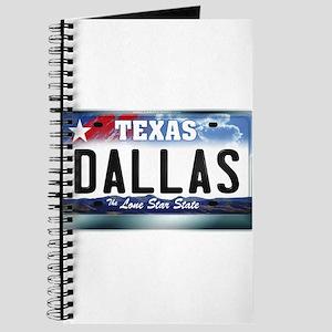 Texas License Plate [DALLAS] Journal