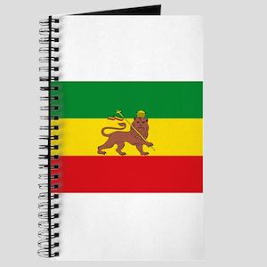 Ethiopia Flag Lion of Judah Rasta Reggae Journal