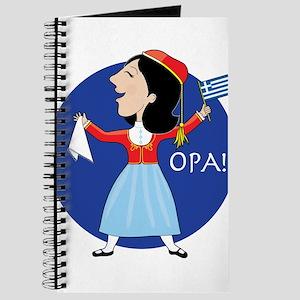 Greek Lady Dancing Journal