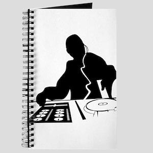 Dj Mixing Turntables Club Music Disc Jocke Journal