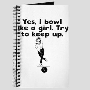 I Bowl Like A Girl Journal