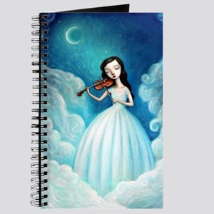 Girl with Moon and Violin Journal