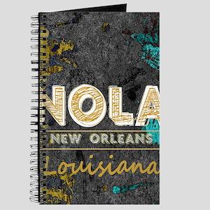 NOLA New Orleans Black Gold Turquoise Grun Journal