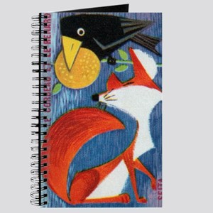 The Crow and The Fox French Matchbox Label Journal