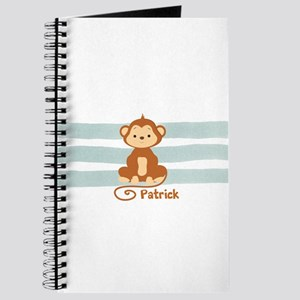 Personalized Monkey with Name Journal