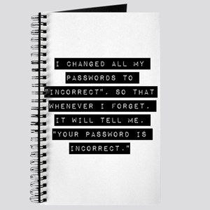 I Changed All My Passwords Journal