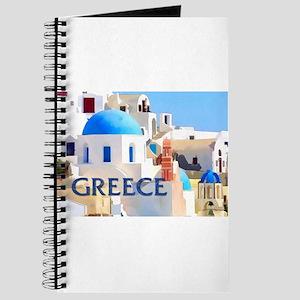 Blinding White Buildings in Greece Journal