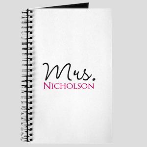 Customizable Name Mrs Journal