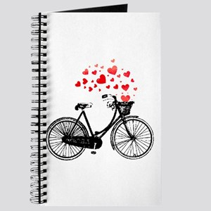 Vintage Bike with Hearts Journal