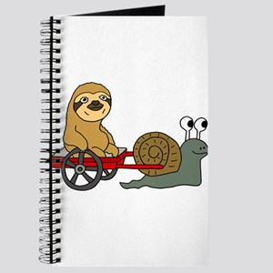 Snail Pulling Wagon with Sloth Journal
