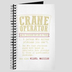 Crane Operator Funny Dictionary Term Journal