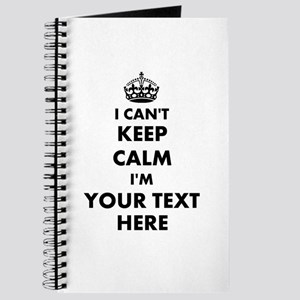 Personalized I Cant Keep Calm Journal