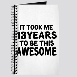 13 Years To Be This Awesome Journal