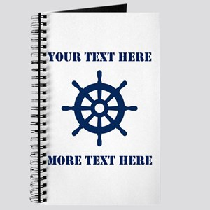Custom nautical ship wheel Journal