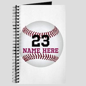 Baseball Player Name Number Journal