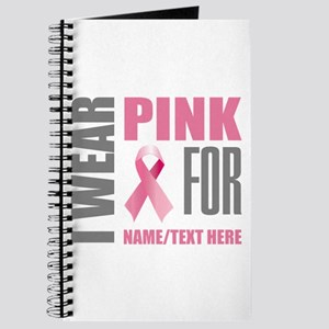 Pink Awareness Ribbon Customized Journal