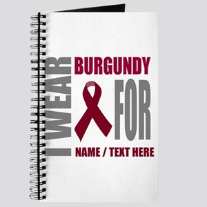 Burgundy Awareness Ribbon Customized Journal