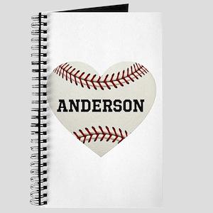 Baseball Love Personalized Journal