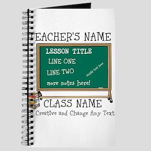 Teacher School Class Personalized Journal