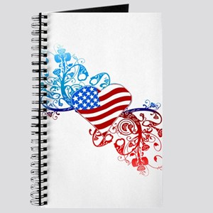 Independence Day Heart Scroll Journal