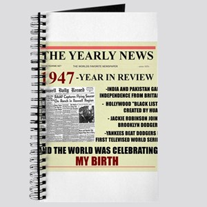 born in 1947 birthday gift Journal