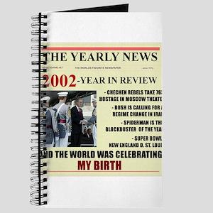 born in 2002 birthday gift Journal