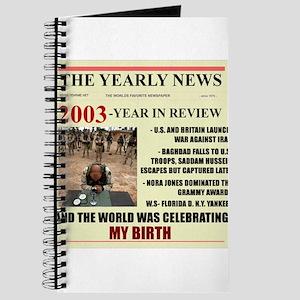 born in 2003 birthday gift Journal