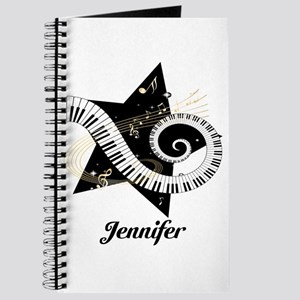 Music star gold black Journal
