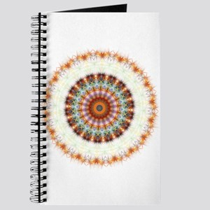 Detailed Orange Earth Mandala Journal